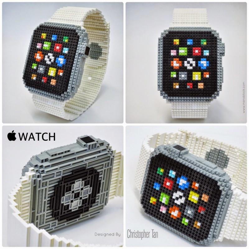 Apple Watch z 800 nanoblokov - svetapple.sk