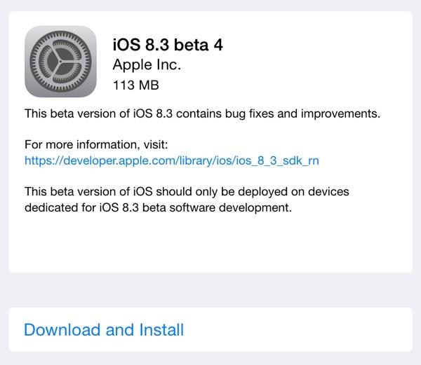 Apple vydal 4. betu iOS 8.3 vývojáře a 2. betu pro veřejnost