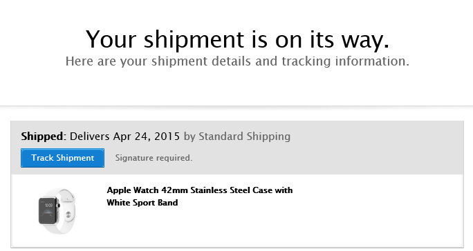 apple watch pre orders now shipping for april 24 delivery mac rumors. Black Bedroom Furniture Sets. Home Design Ideas