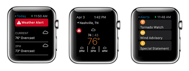 Weather Underground Apple Watch