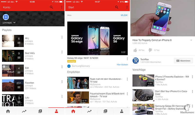 YouTube for iOS Redesign