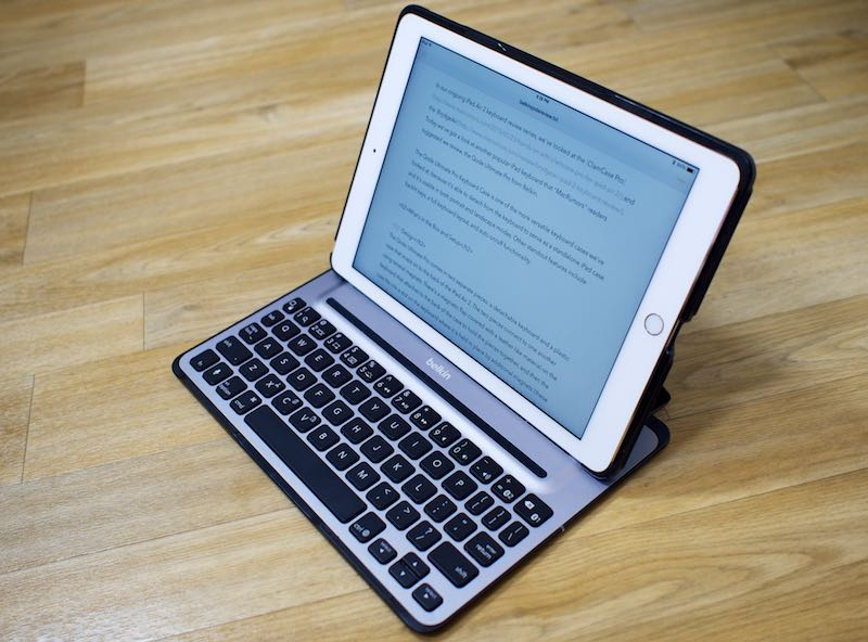 Review: Belkin's Qode Ultimate Pro Keyboard Case Offers Versatility and a Full Set of Keys [iOS Blog]