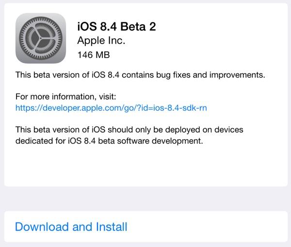 Apple vydal 2. betu iOS 8.4 pro vývojáře (Video)