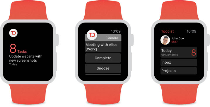 Todoist for Apple Watch Released With Glance View, Task Notifications and More [iOS Blog]