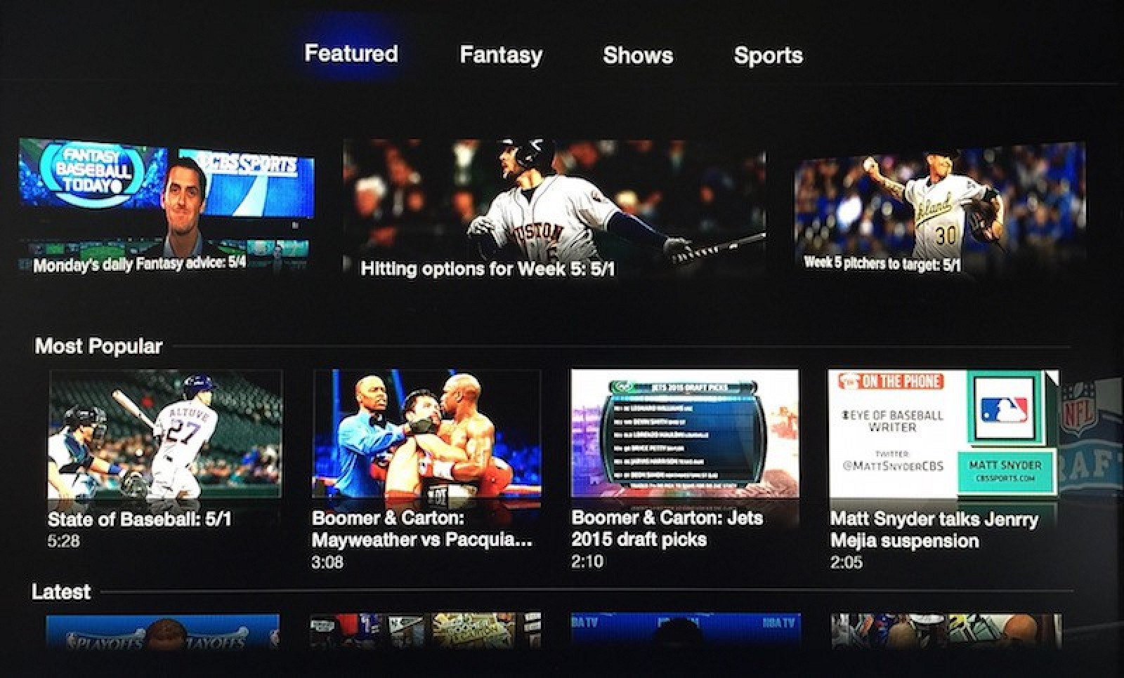 Cbs Sports And Usa Now Channels Now Available On Apple Tv