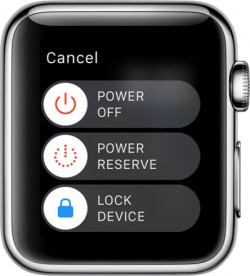 Apple Watch Power Off