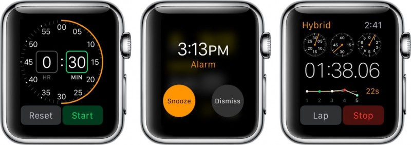 Apple Watch Timer_Alarm_Stopwatch