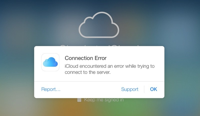 icloudconnectionerror