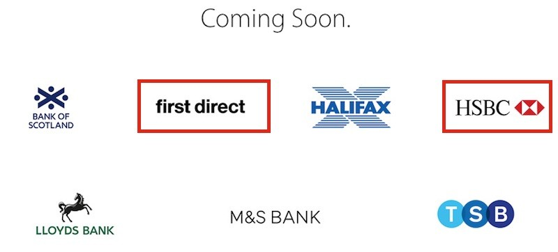 HSBC First Direct Apple Pay UK