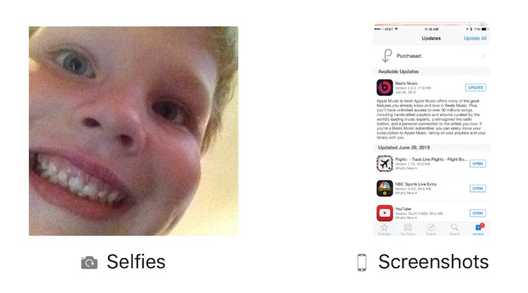 Selfies a screenshots - svetapple.sk