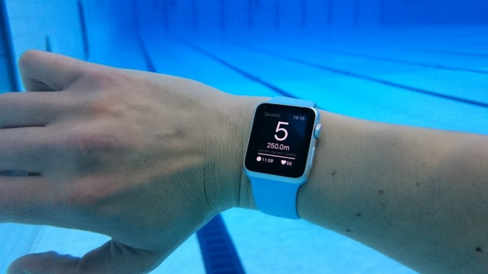 39 world 39 s first swim app 39 on apple watch put to the test in. Black Bedroom Furniture Sets. Home Design Ideas