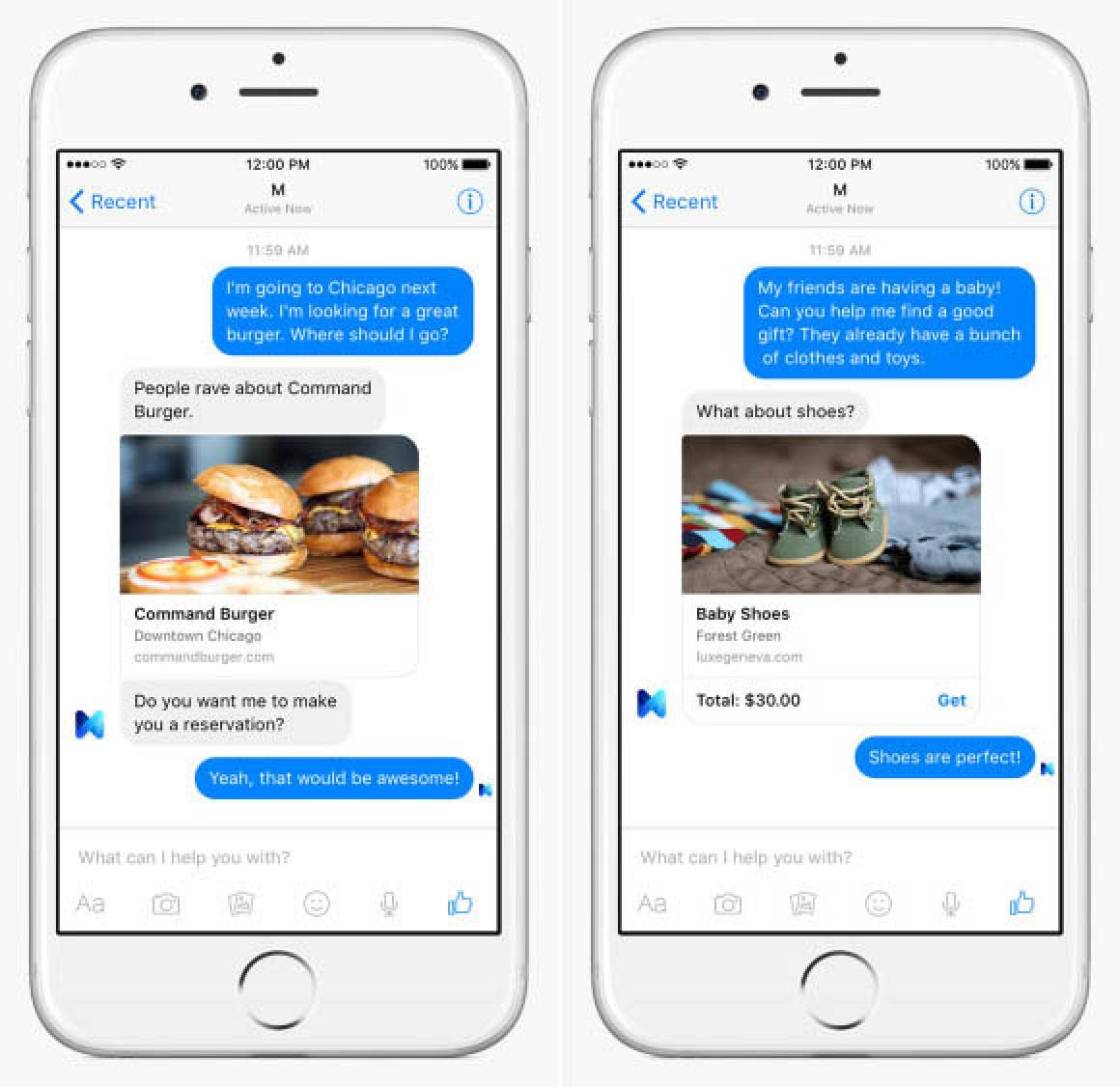 facebook testing siri competitor 39 m 39 inside messenger app. Black Bedroom Furniture Sets. Home Design Ideas