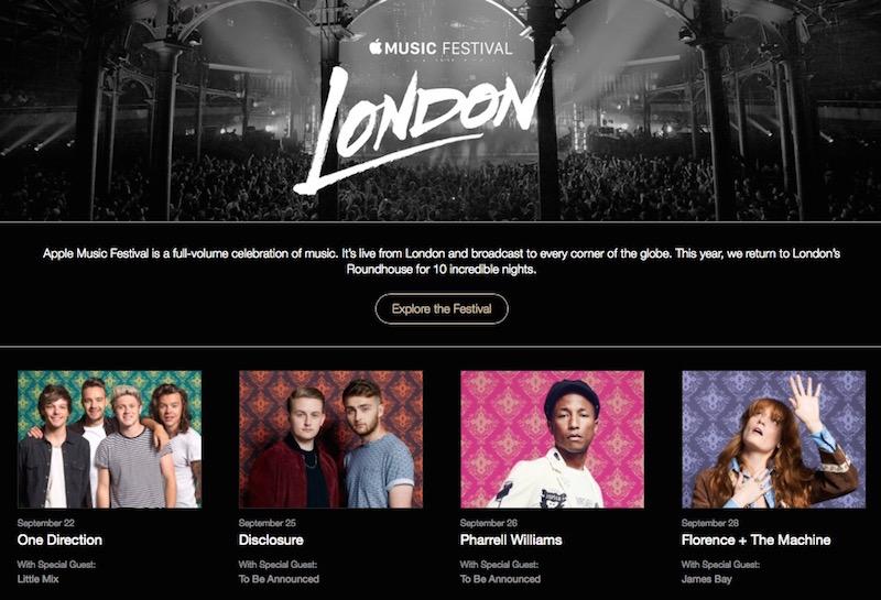 Apple Music Festival v Londýně odstartuje 19. září