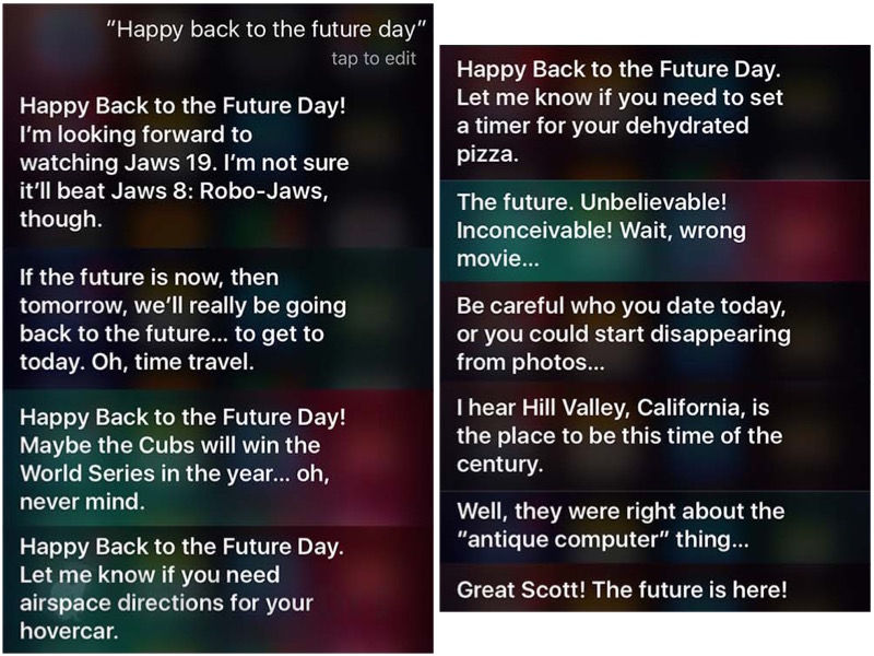 Siri také zná film Návrat do budoucnosti