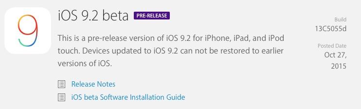 Apple vydal 1. betu iOS 9.2 pro vývojáře