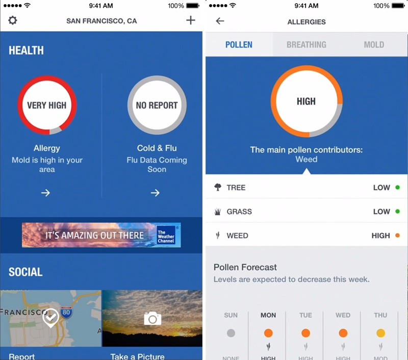 'The Weather Channel' App For IPhone Gains Revamped Design