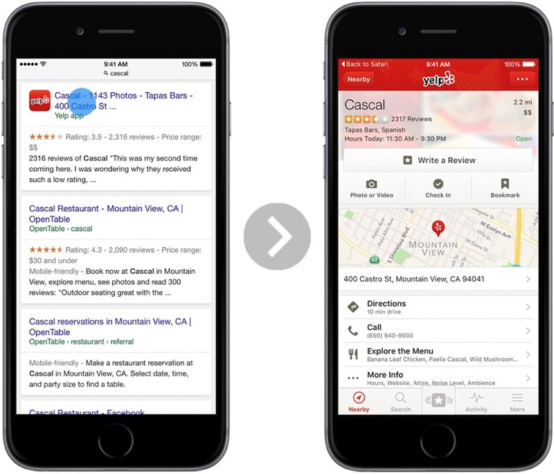 App Content Will Soon Be Available in Safari Search Results as Google Expands App Indexing to iOS 9