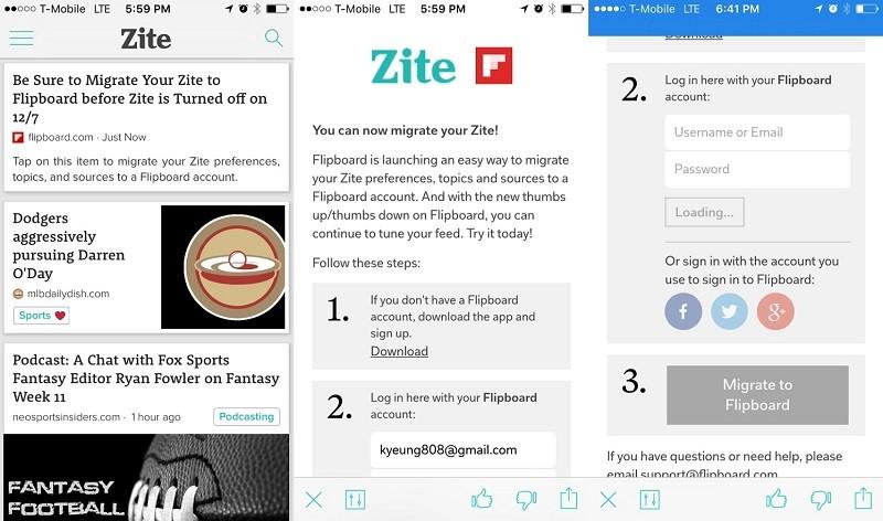 zite flipboard apps