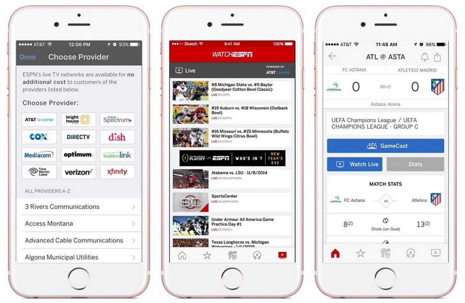 ESPN Brings WatchESPN ...Watchespn App For Iphone