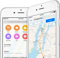 Apple Mapy se na iPhonech používají 3x více než Google Mapy