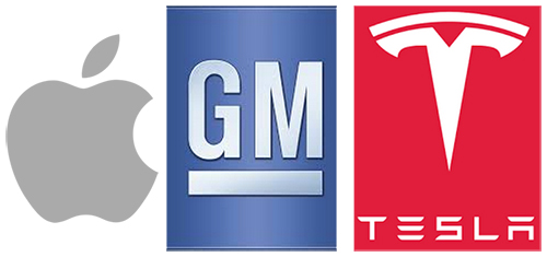 Apple-GM-Tesla
