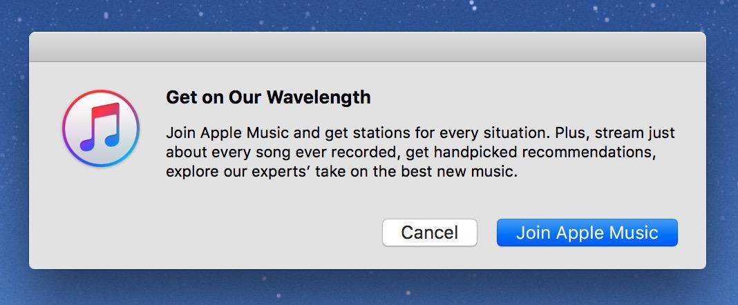 iTunes Radio Mac prompt