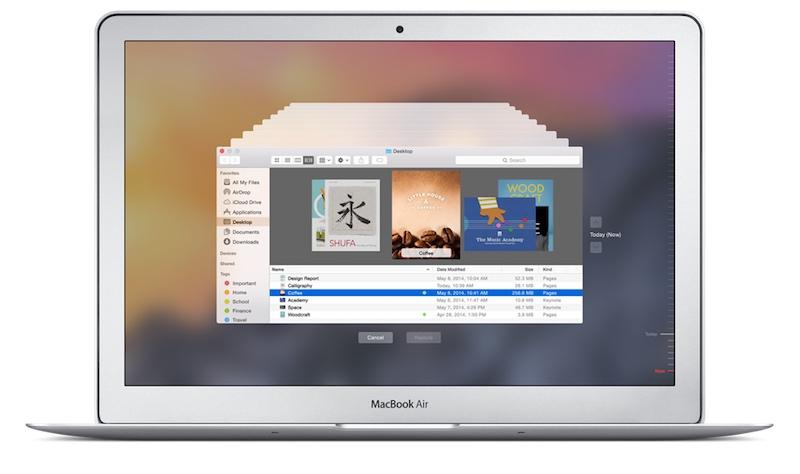 Time Machine on a MacBook Air