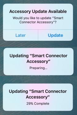 iOS 9.3 umožní aktualizovat firmwary příslušenství přes Smart konektor