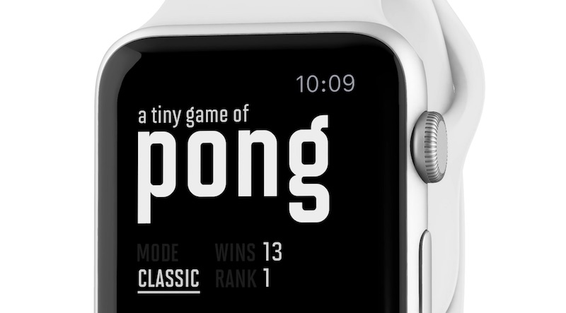 a tiny game of pong apple watch