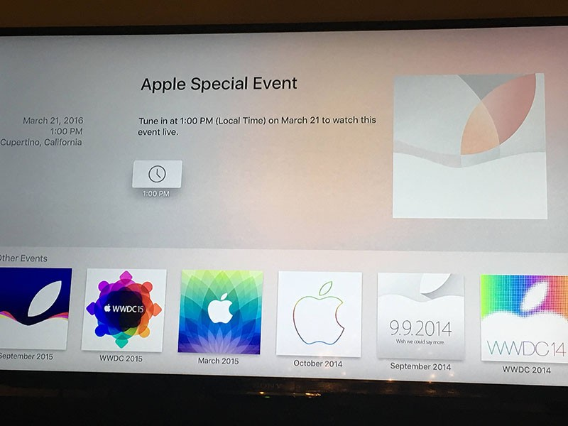 Apple Events' Launches on Apple TV App Store Ahead of Monday's 'Let
