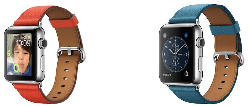 Apple Watch marine blue classic buckle
