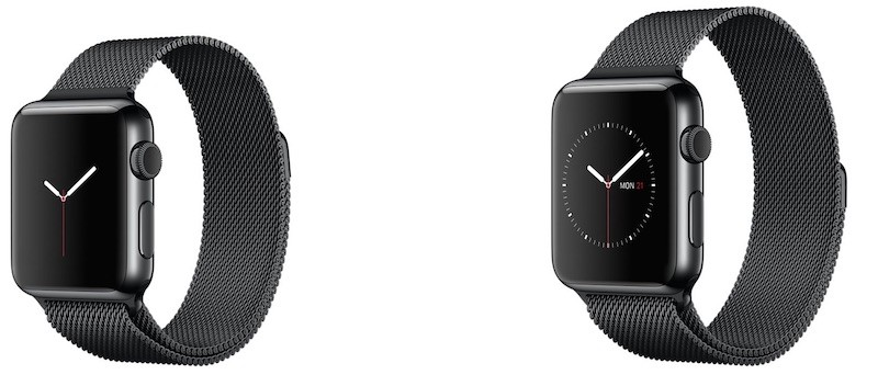 Apple Watch space black milanese loop