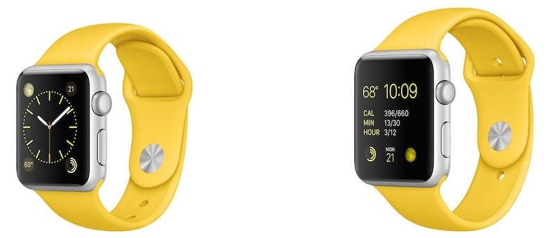 Apple Watch sport marigold