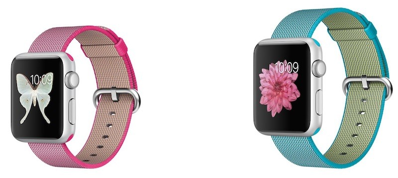 apple watch sport pink nylon