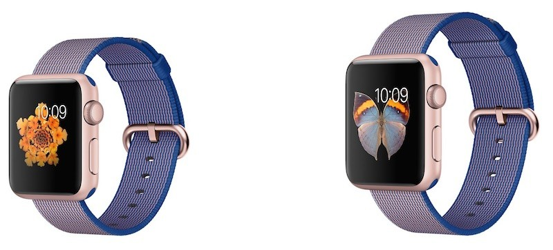 apple watch sport royal blue nylon