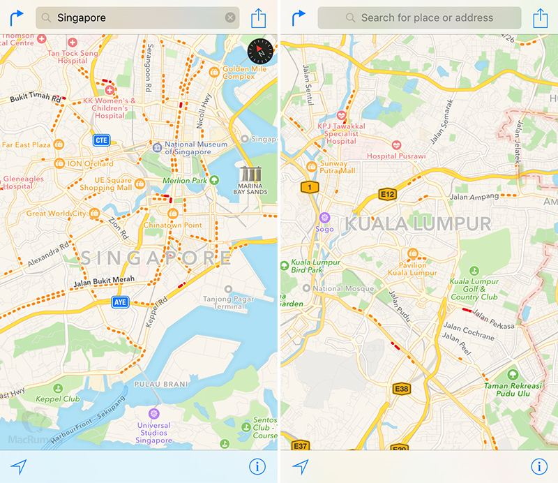 Singapore Malaysia: Apple Maps Traffic Data Expands To Singapore And Malaysia