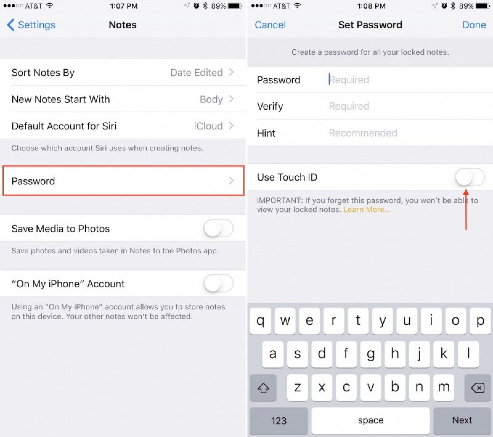 how to change email password on iphone ios 10