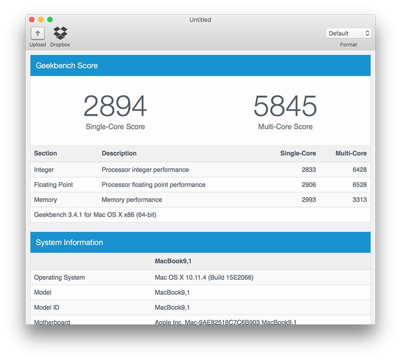 new inch macbook benchmarks tidbits