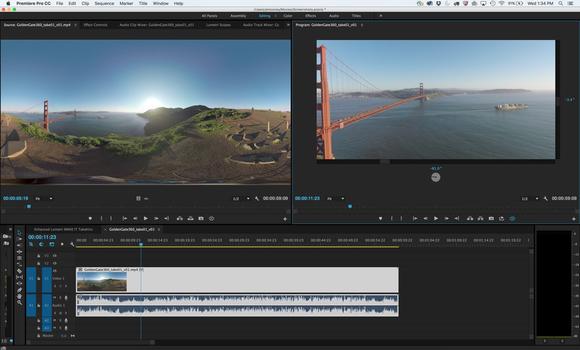 Adobe CC VR video editing