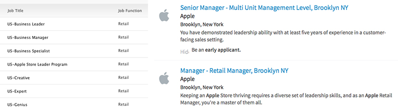 employment and apple store manager Become a starbucks partner (employee) if your dream job is working in a starbucks store as a barista, shift supervisor, or store manager, for a company that is deeply.
