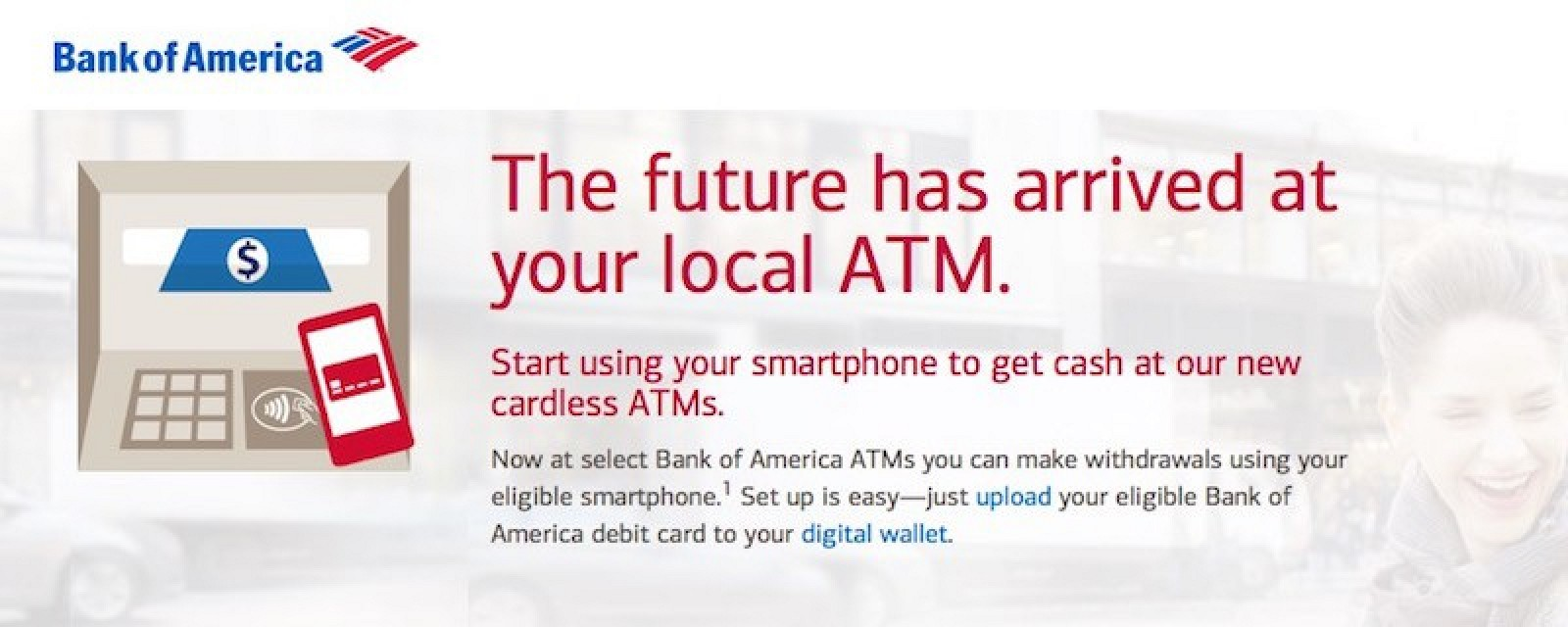 how to get bank of america cash pay card