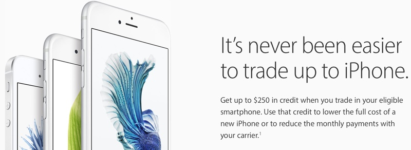 Apple Simplifies 'Trade Up With Installments' iPhone Program by Relying on Carrier Financing Plans