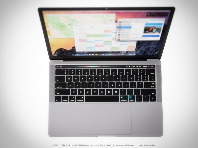 macbook pro oled touch panel concept