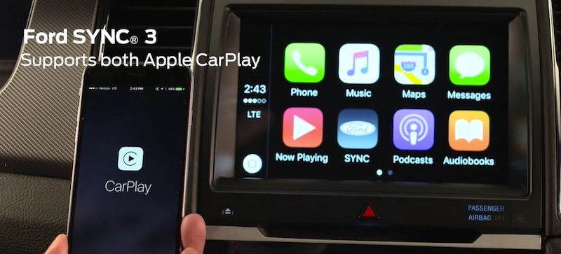 CarPlay Now Available in All 2017 Ford Vehicles Equipped With SYNC 3