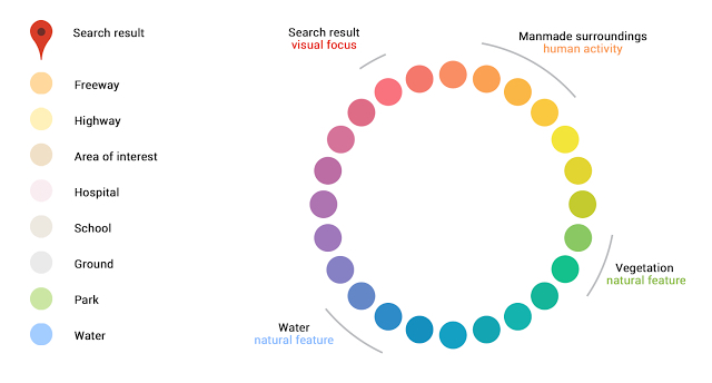 Google Maps color scheme
