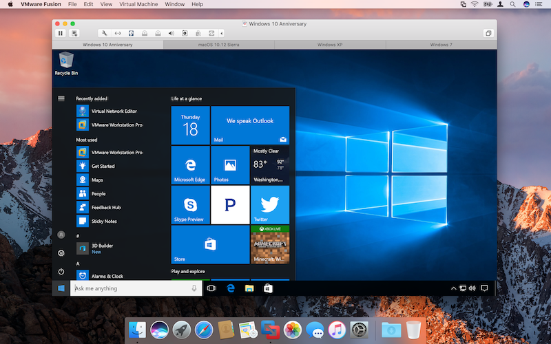 VMware Announces Fusion and Fusion Pro 8.5 With Sierra and Windows 10 Anniversary Support