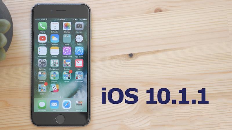 Apple vydal nové sestavení iOS 10.1.1