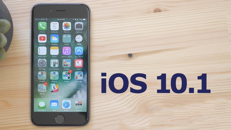 Apple vydal velkou opravu iOS 10.1