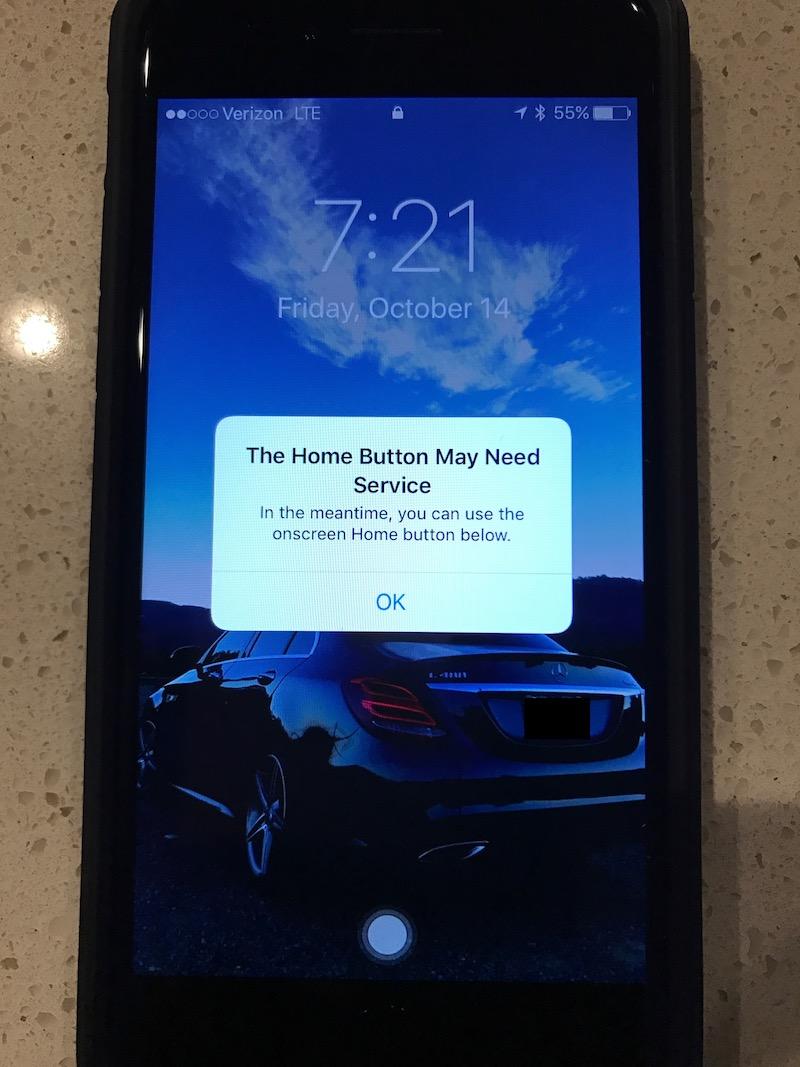 iphone 7 broken home button