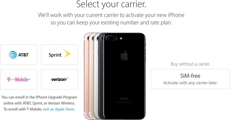 Sim Free Iphone 7 And Iphone 7 Plus Now Available From
